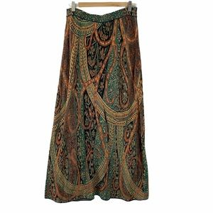 Peruvian Connection Paisley Knit Maxi Skirt